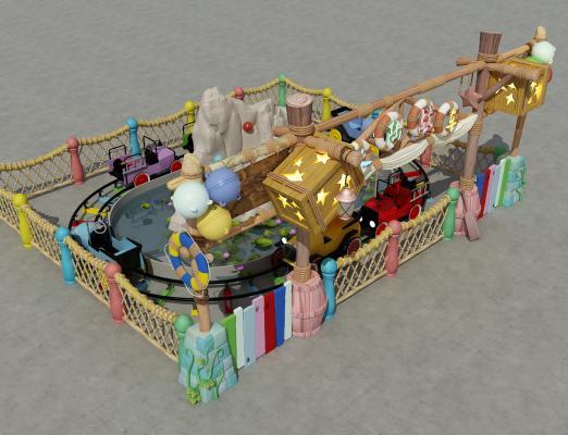 现代风格儿童游戏车 游乐场设备