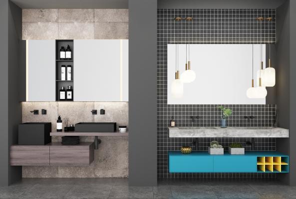 北欧洗手台 洗漱用品摆件 卫生间