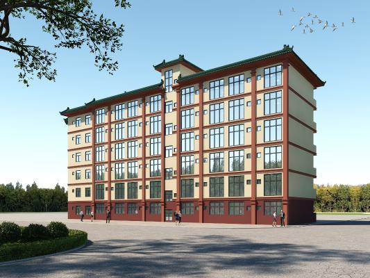 新中式宿舍外觀 住宅樓