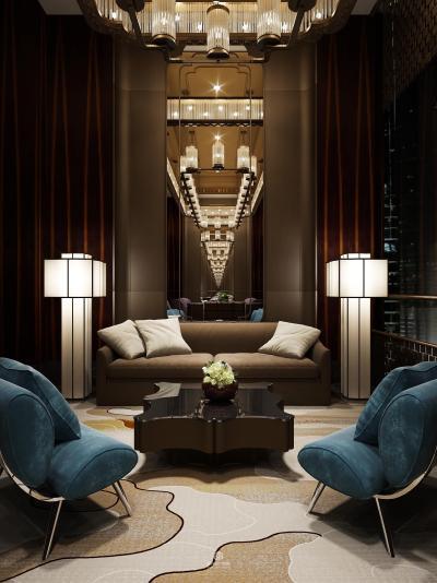 新中式酒店会客厅