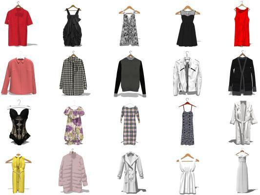 现代服装 衣服 服饰