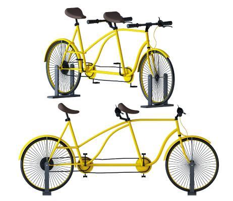 现代风格交通工具 自行车