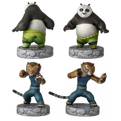 现代功夫熊猫角色手办 老虎 熊猫
