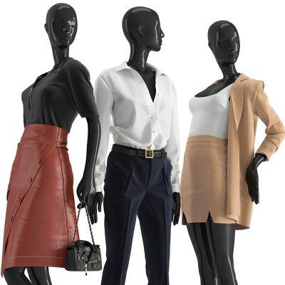 现代模特 服装