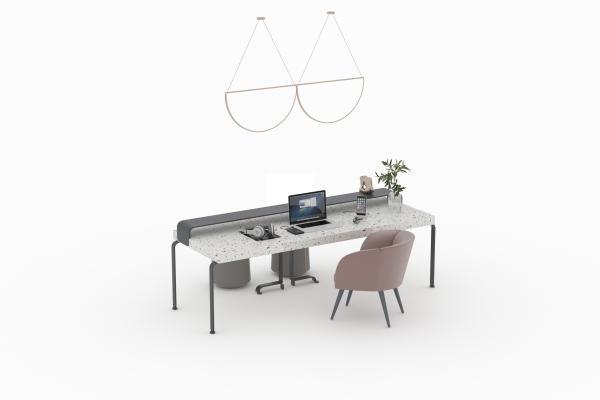 现代风格书桌椅组合