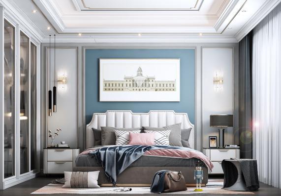 简欧卧室 装饰画
