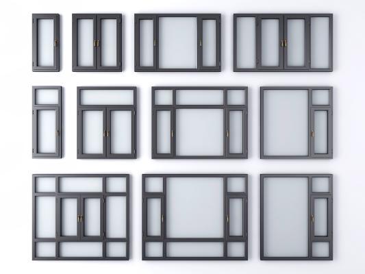 现代窗户 窗子 窗框