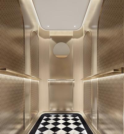 欧式电梯过道 轿厢 酒店电梯