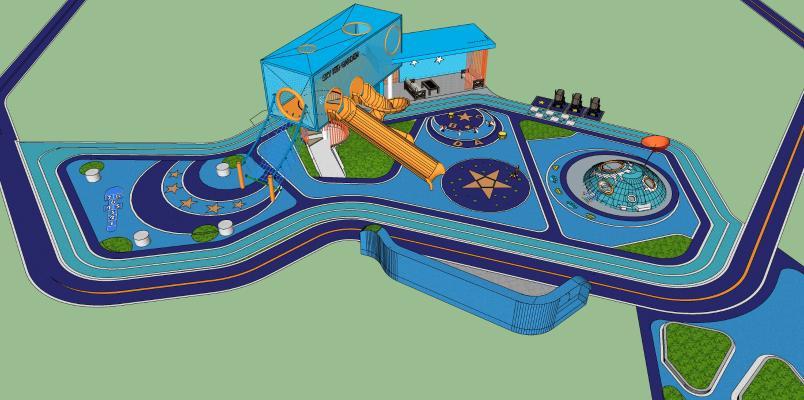 现代儿童游乐场 幼儿园娱乐设备 儿童乐园