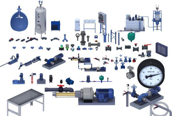 现代工业设备 阀门 压力表