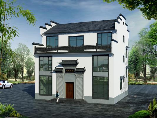 新中式别墅外观 马头墙