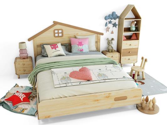 现代儿童床 床具组合