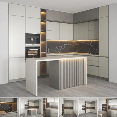 现代厨房 橱柜 中岛台 壁柜