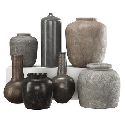 现代陶土罐