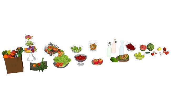 现代水果蔬菜玻璃瓶大全