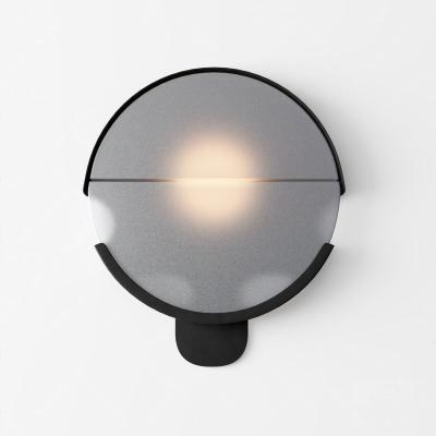 现代圆形磨砂玻璃壁灯