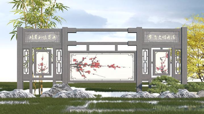 中式文化宣传栏