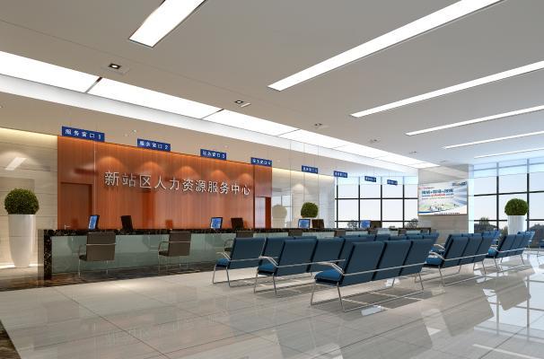 现代政府服务中心 服务大厅 等候区