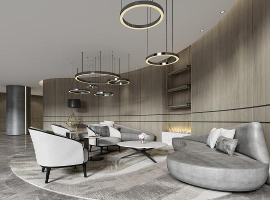 现代酒店休闲区