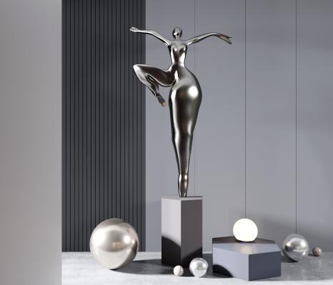 现代雕塑 人物雕塑 雕塑