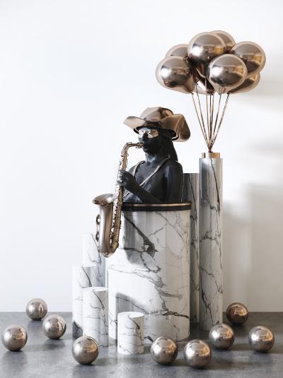 现代雕塑 人物气球雕塑