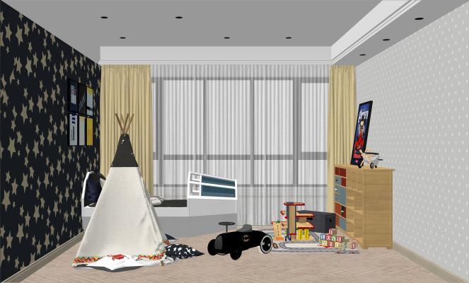 现代儿童房空间