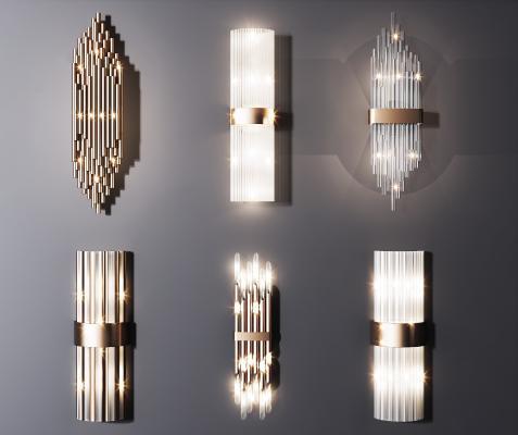 现代水晶壁灯组合