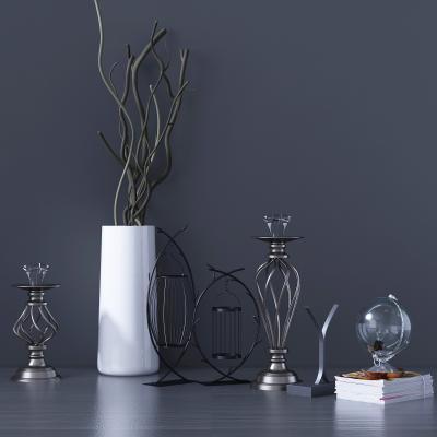 现代铁艺桌面摆件组合