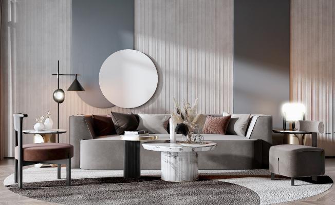 现代风格沙发茶几 组合沙发
