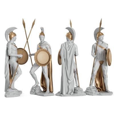 欧式罗马士兵人物雕塑