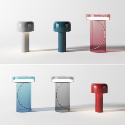 现代台灯组合 玻璃台灯 透明台灯
