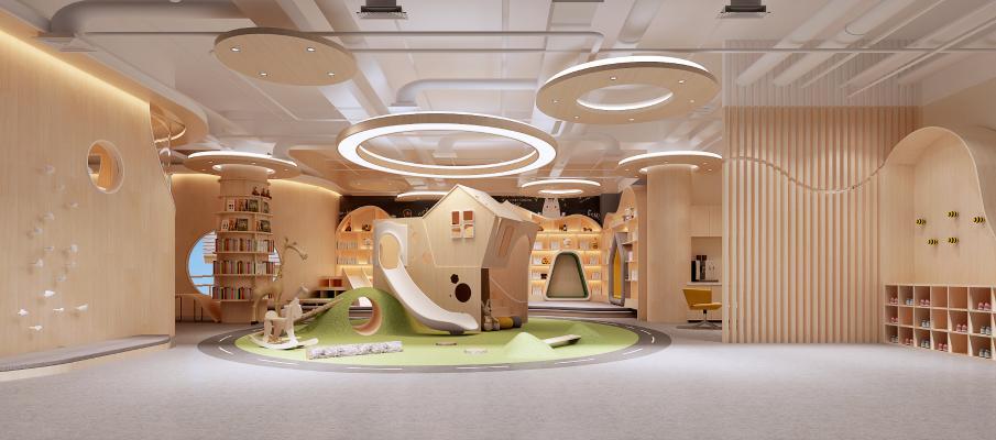 现代学校 幼儿园 阅览区 活动室