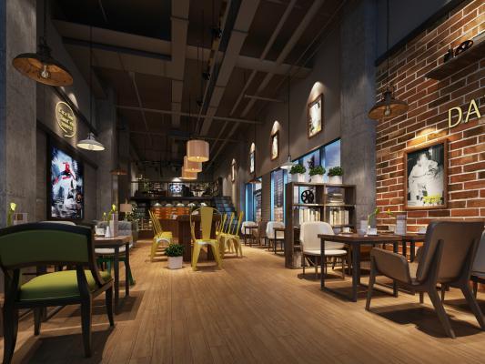 现代咖啡店 快餐店 奶茶店