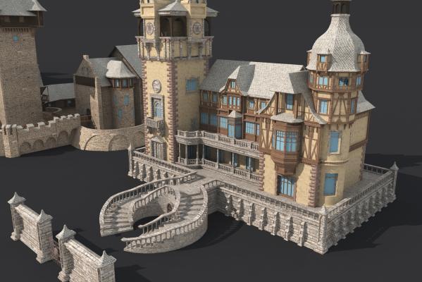 法式城堡景观小建筑