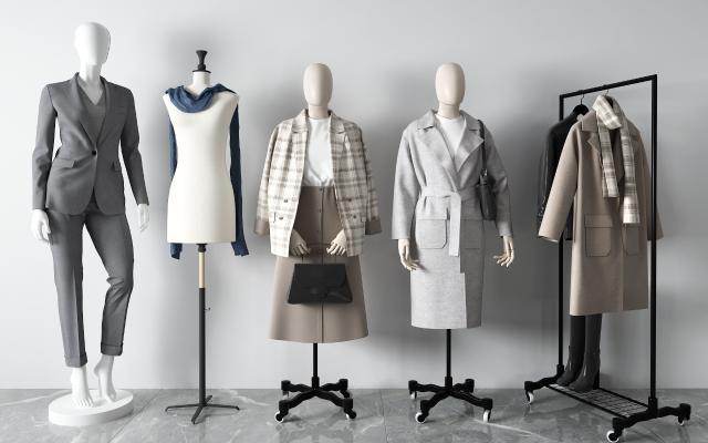 现代模特 西服 衣架