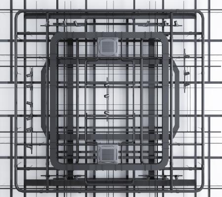 工业风通风管线槽线管天花轨道灯组合 管道 通风口