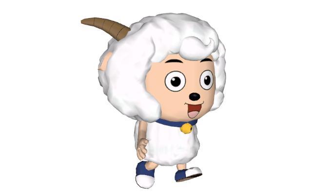 现代喜羊羊玩具摆件