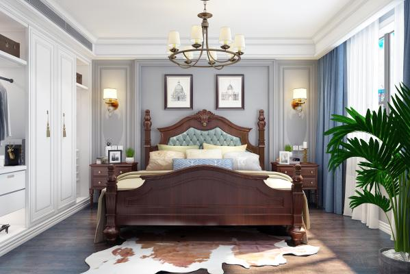 美式�P室 床 衣��
