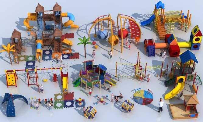 现代儿童游乐设施