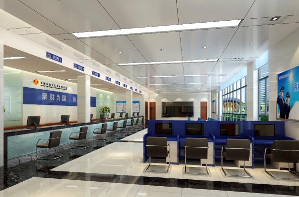 现代办税大厅 服务大厅 税务大厅