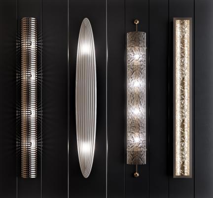现代金属长条壁灯