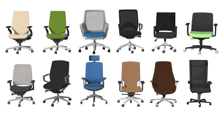 现代办公椅组合 转椅 电脑椅