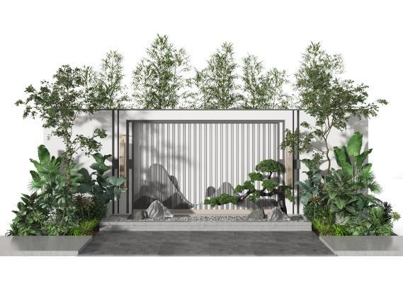 新中式庭院景�^ �@林