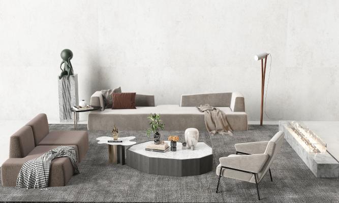 现代沙发茶几组合 座椅