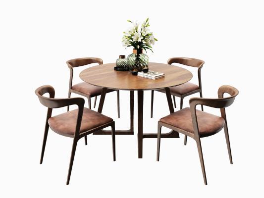 新中式户外休闲桌椅 实木桌椅