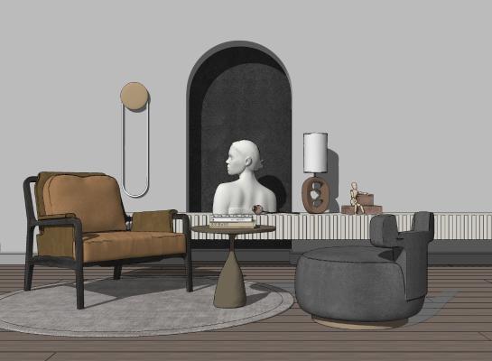 现代休闲椅 椅子茶几组合