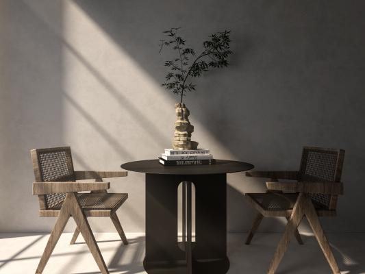 现代桌椅组合