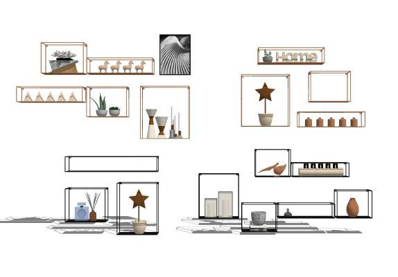 现代装饰架置物架1