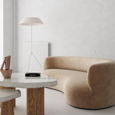 现代弧形沙发茶几组合