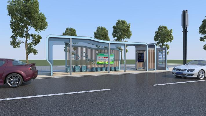 现代公交站台